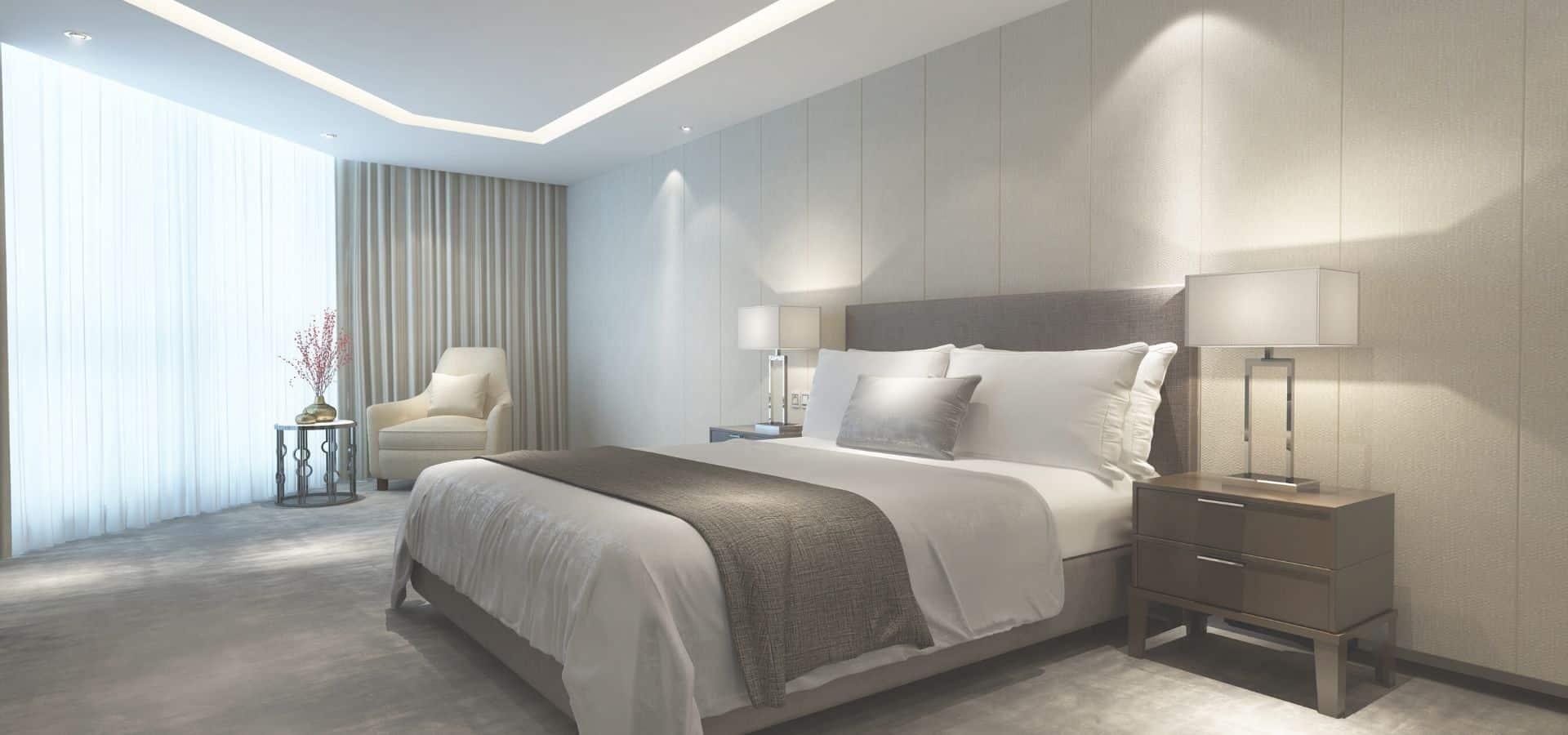 Łóżko tapcerowane szare