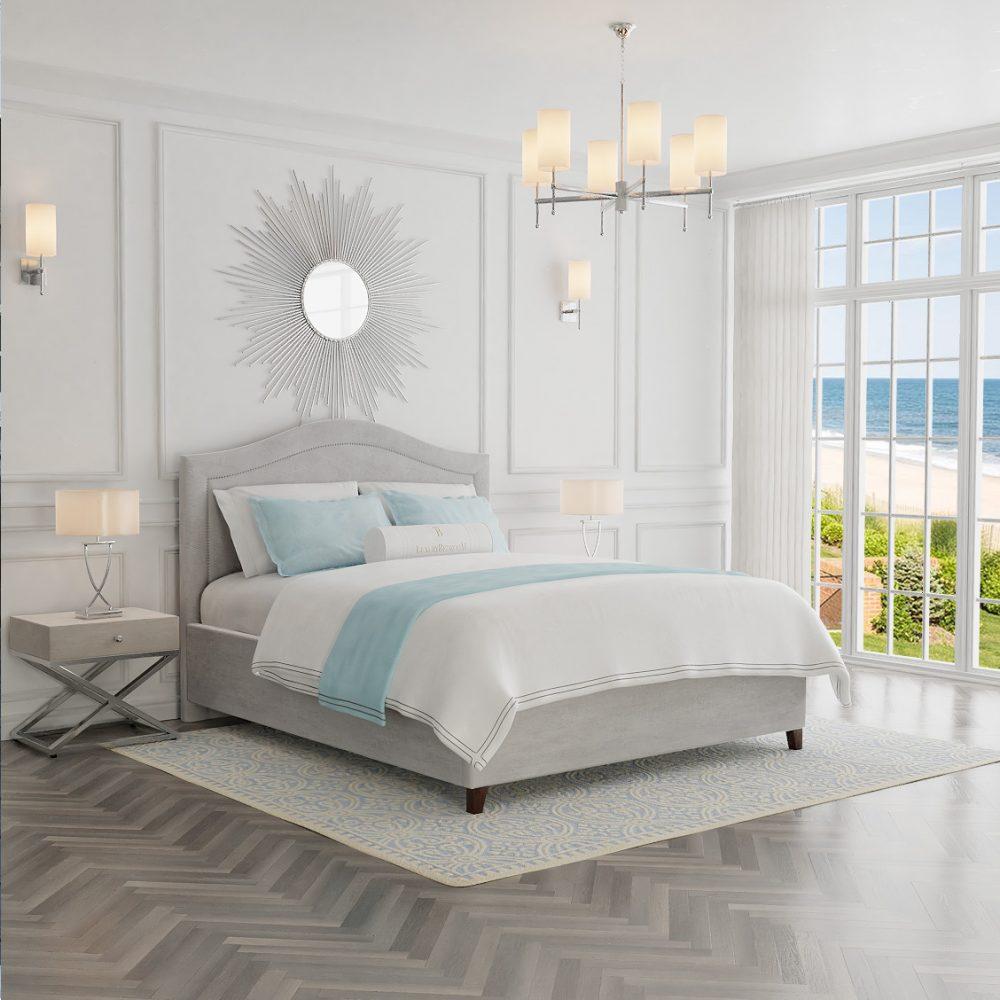 łóżko tapicerowane amerykański design