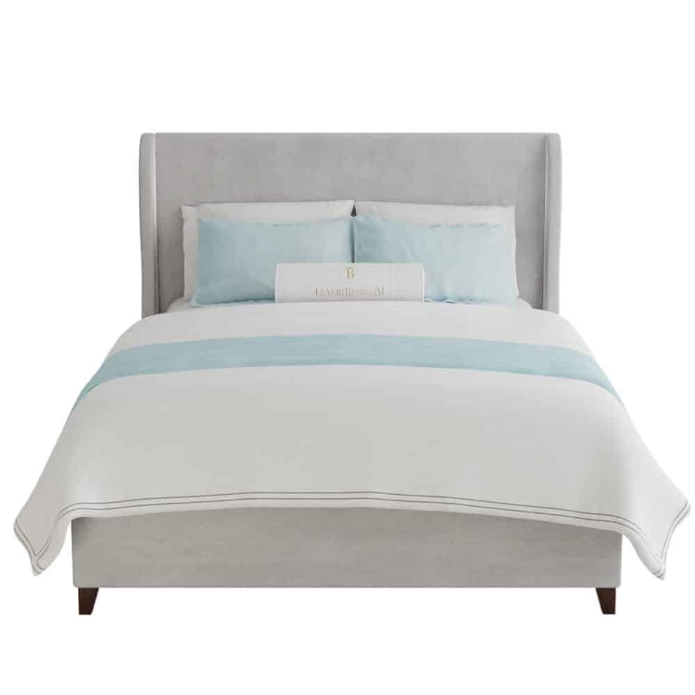 łóżko tapicerowane styl glamour