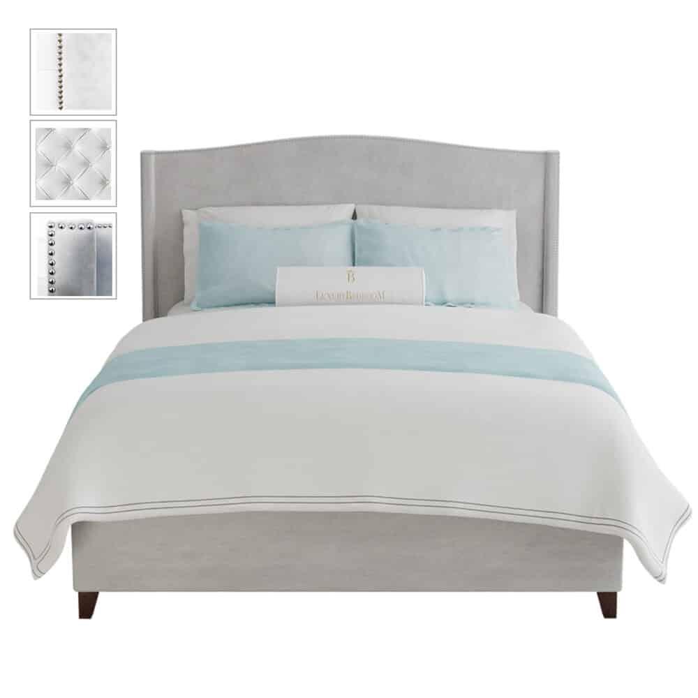 Łóżko tapicerowane w stylu modern classic