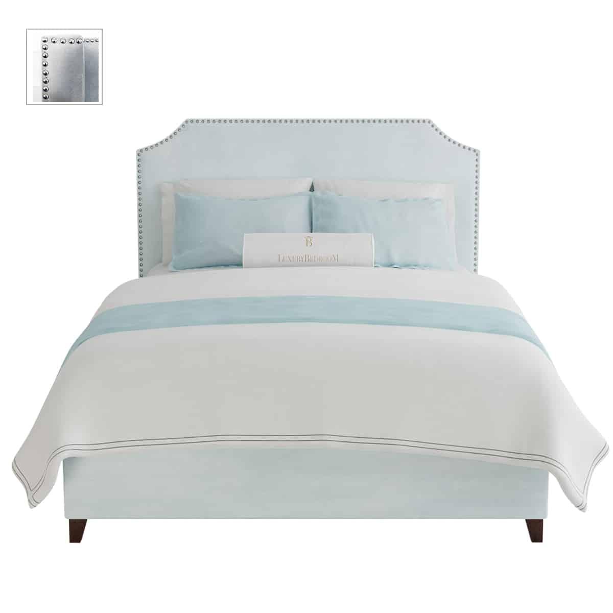 łóżko tapicerowane styl hollywood glamour