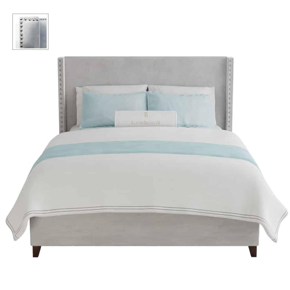 łóżko tapicerowane styl modern classic