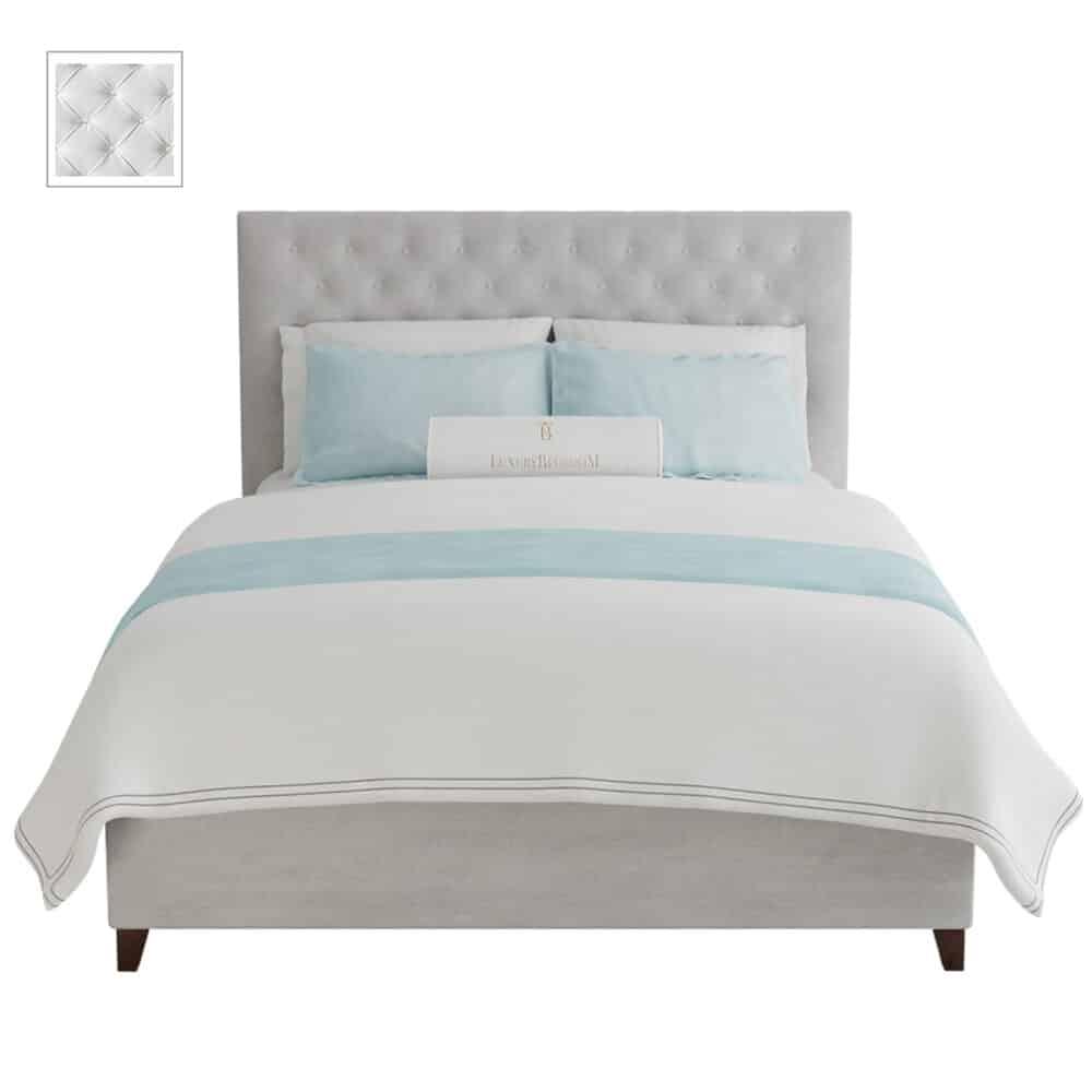 Łóżko tapicerowane w stylu nowojorskim