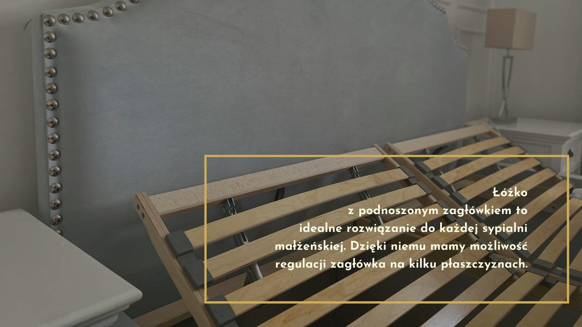 Łóżko z podnoszonym zagłówkiem